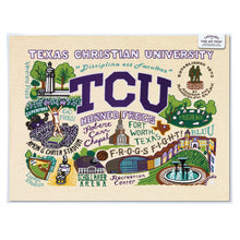 Load image into Gallery viewer, Texas Christian University (TCU) Collegiate Fine Art Print - catstudio