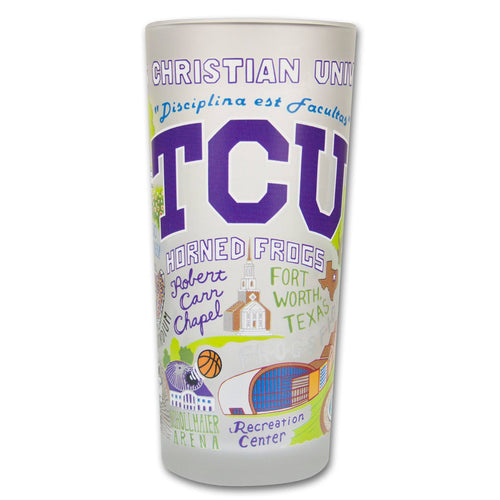 Texas Christian University (TCU) Collegiate Glass Glass catstudio