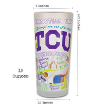 Load image into Gallery viewer, Texas Christian University (TCU) Collegiate Glass Glass catstudio