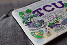 Load image into Gallery viewer, Texas Christian University (TCU) Collegiate Zip Pouch - catstudio