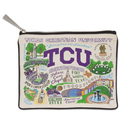 Texas Christian University (TCU) Collegiate Zip Pouch - catstudio