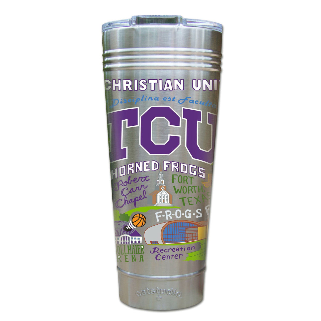 Texas Christian University (TCU) Collegiate Thermal Tumbler (Set of 4) - PREORDER Thermal Tumbler catstudio