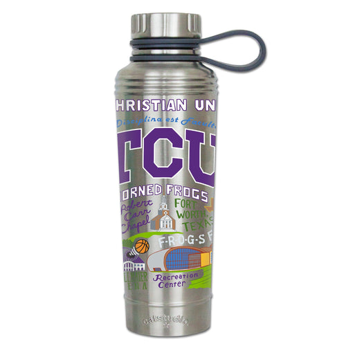 Texas Christian University (TCU) Collegiate Thermal Bottle - catstudio