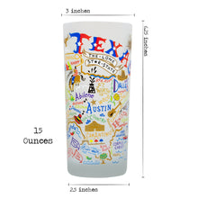 Load image into Gallery viewer, Texas Drinking Glass - catstudio
