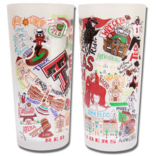 Load image into Gallery viewer, Texas Tech University Collegiate Drinking Glass - catstudio