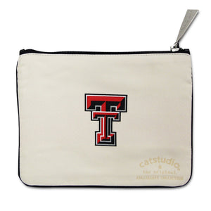 Texas Tech University Collegiate Zip Pouch - catstudio