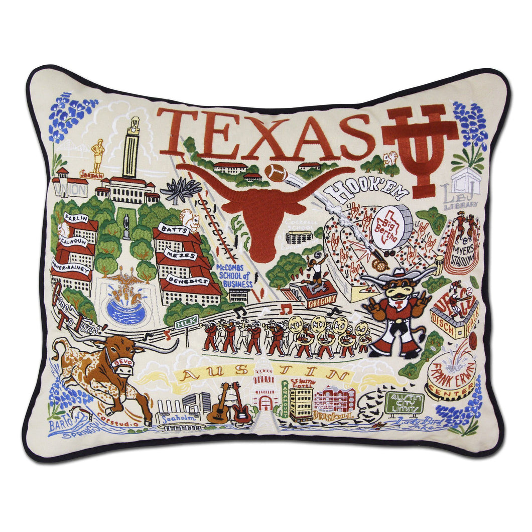 Texas, University of Collegiate Embroidered Pillow - Coming Soon! Pillow catstudio