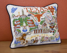 Load image into Gallery viewer, Texas, University of Collegiate Embroidered Pillow Pillow catstudio