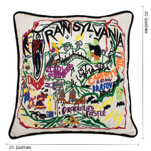 Load image into Gallery viewer, Transylvania Hand-Embroidered Pillow Pillow catstudio