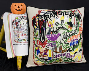 Transylvania Hand-Embroidered Pillow - catstudio