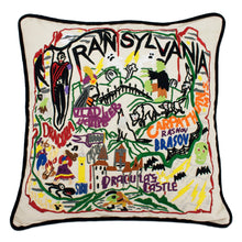 Load image into Gallery viewer, Transylvania Hand-Embroidered Pillow - catstudio