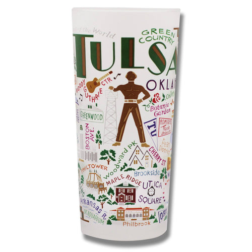 Tulsa Drinking Glass - catstudio