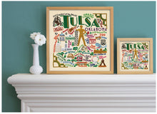 "Load image into Gallery viewer, Tulsa Fine Art Print Art Print catstudio 16""x16"" - Framed"