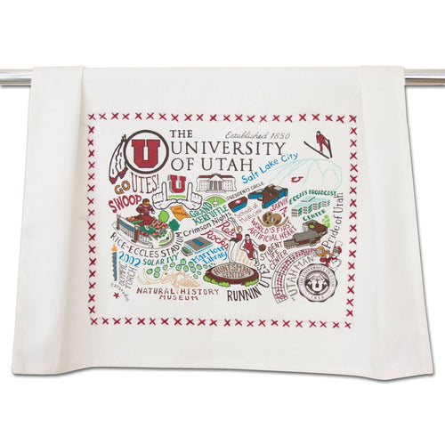Utah, University of Collegiate Dish Towel Dish Towel catstudio