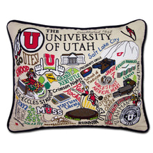 Load image into Gallery viewer, Utah, University of Collegiate Embroidered Pillow - catstudio