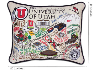 Utah, University of Collegiate Embroidered Pillow - catstudio