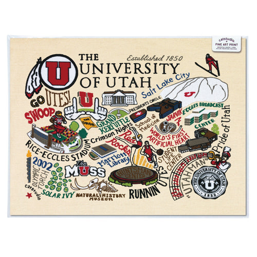 Utah, University of Collegiate Fine Art Print - catstudio