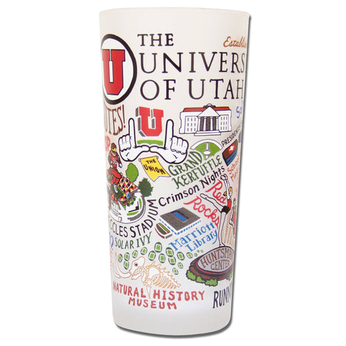 Utah, University of Collegiate Drinking Glass - catstudio