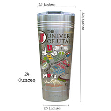 Load image into Gallery viewer, Utah, University of Collegiate Thermal Tumbler (Set of 4) - PREORDER Thermal Tumbler catstudio
