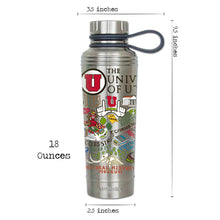 Load image into Gallery viewer, Utah, University of Thermal Bottle Thermal Bottle catstudio