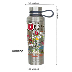 Utah, University of Collegiate Thermal Bottle - catstudio
