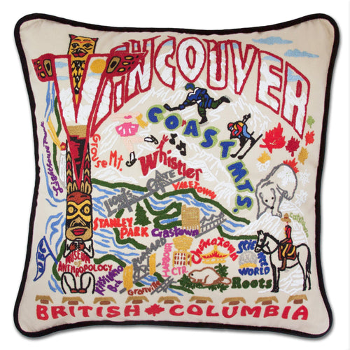 Vancouver Hand-Embroidered Pillow - catstudio