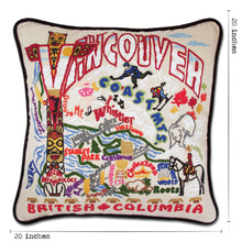 Load image into Gallery viewer, Vancouver Hand-Embroidered Pillow - catstudio