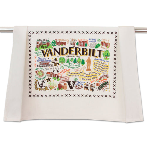 Vanderbilt University Collegiate Dish Towel Dish Towel catstudio