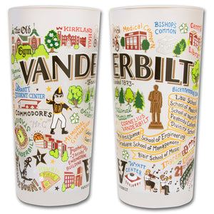Vanderbilt University Collegiate Drinking Glass - catstudio