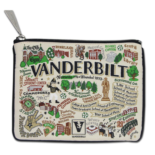 Vanderbilt University Collegiate Zip Pouch - catstudio