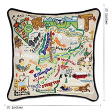 Load image into Gallery viewer, Vermont Hand-Embroidered Pillow - catstudio