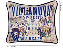 Load image into Gallery viewer, Villanova University Collegiate Embroidered Pillow - catstudio