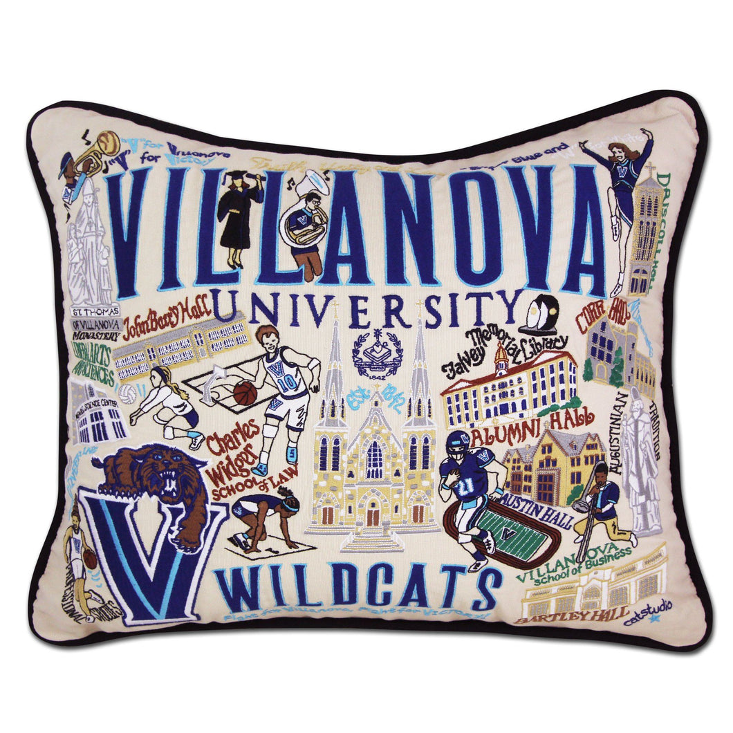Villanova University Collegiate Embroidered Pillow - catstudio