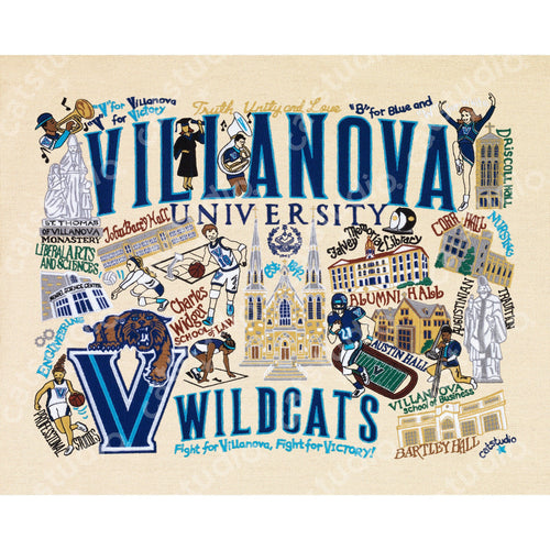 Villanova University Collegiate Fine Art Print - catstudio