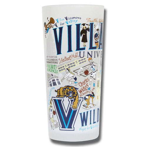 Villanova University Collegiate Drinking Glass - catstudio