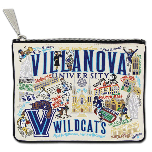 Villanova University Collegiate Zip Pouch - catstudio
