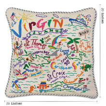 Load image into Gallery viewer, Virgin Isles Hand-Embroidered Pillow Pillow catstudio