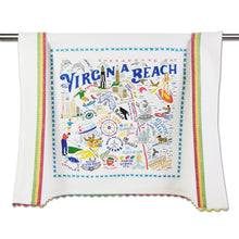 Load image into Gallery viewer, Virginia Beach Dish Towel - catstudio