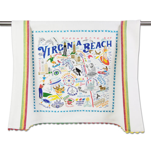 Virginia Beach Dish Towel Dish Towel catstudio