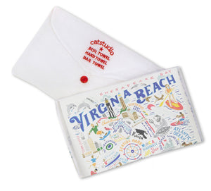 Virginia Beach Dish Towel - catstudio
