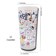 Load image into Gallery viewer, Virginia Beach Drinking Glass - catstudio