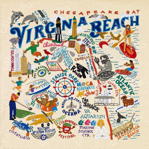 Virginia Beach Fine Art Print - catstudio