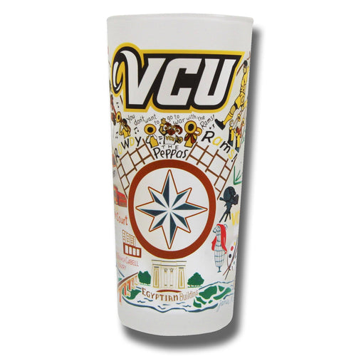 Virginia Commonwealth University (VCU) Collegiate Drinking Glass Glass catstudio