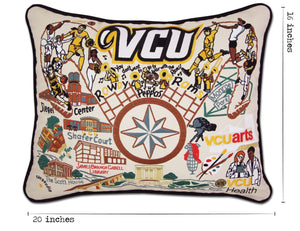 Virginia Commonwealth University (VCU) Collegiate Embroidered Pillow - catstudio