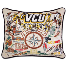 Load image into Gallery viewer, Virginia Commonwealth University (VCU) Collegiate Embroidered Pillow Pillow catstudio