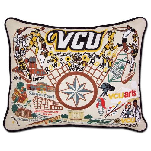 Virginia Commonwealth University (VCU) Collegiate Embroidered Pillow Pillow catstudio