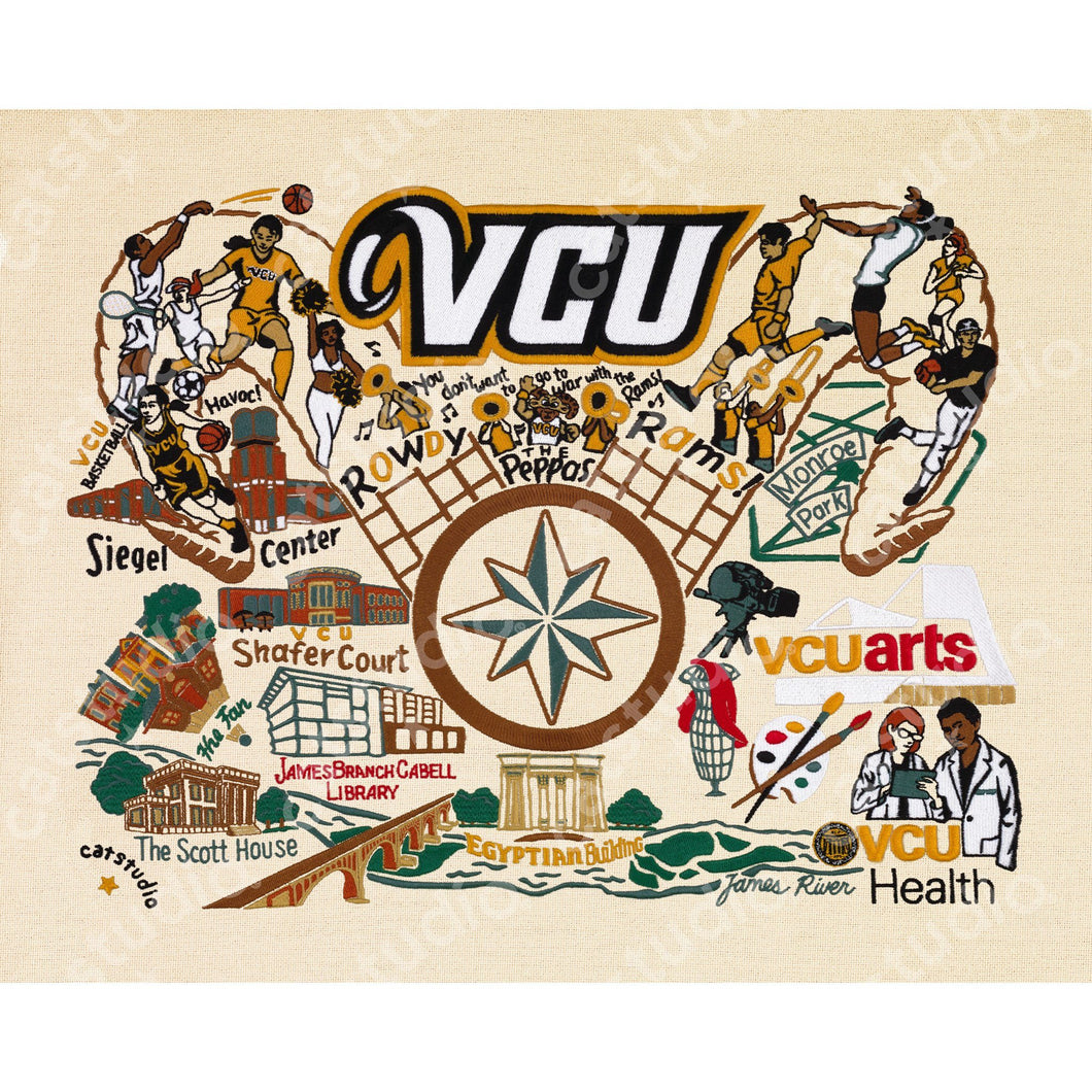 Virginia Commonwealth University (VCU) Collegiate Fine Art Print - catstudio