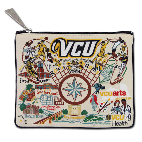 Virginia Commonwealth University (VCU) Collegiate Zip Pouch - Coming Soon! Pouch catstudio
