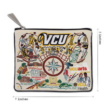 Load image into Gallery viewer, Virginia Commonwealth University (VCU) Collegiate Zip Pouch - catstudio