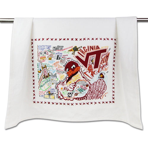 Virginia Tech Collegiate Dish Towel - catstudio